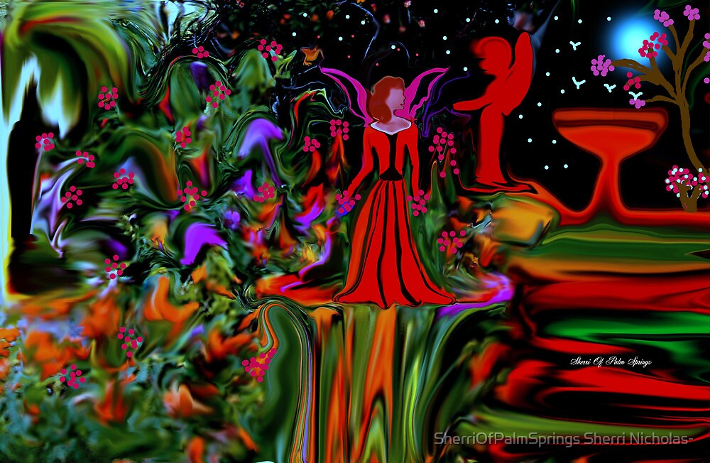 APRIL SHOWERS BRING MAY FLOWERS AND ANGELS by SherriOfPalmSprings Sherri Nicholas-