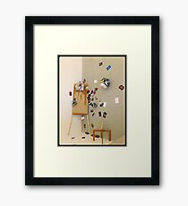 Easel shapes Framed Print