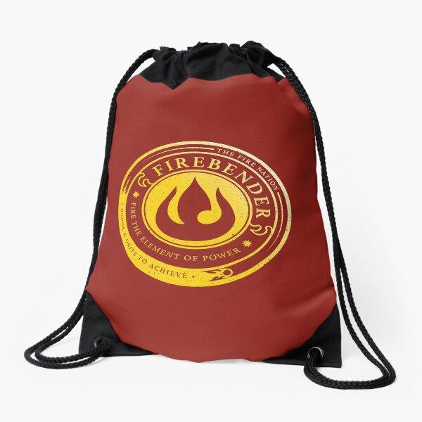ATLA Firebender Symbol: Avatar-Inspired Design Drawstring Bag