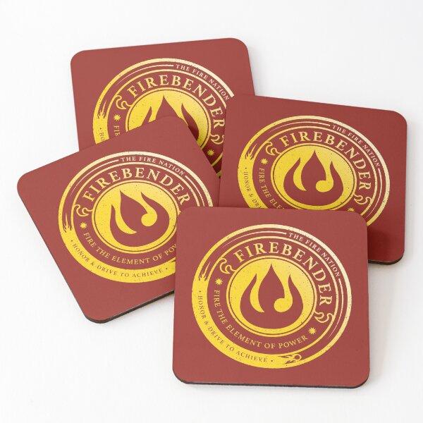 ATLA Firebender Symbol: Avatar-Inspired Design Coasters (Set of 4)