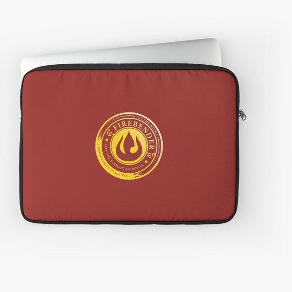 Firebender Symbol: Avatar-Inspired Design v2 Laptop Sleeve