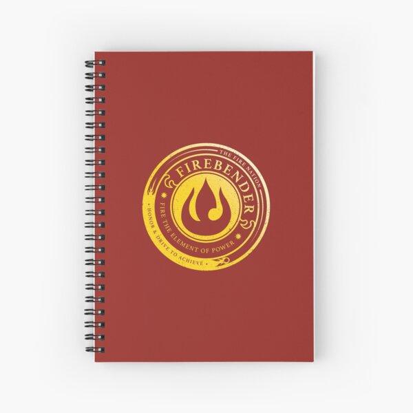 Firebender Symbol: Avatar-Inspired Design v2 Spiral Notebook