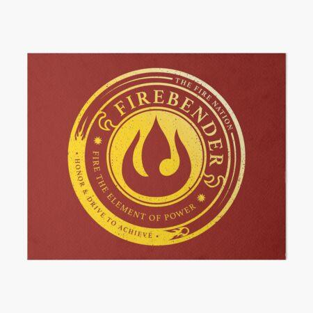 Firebender Symbol: Avatar-Inspired Design v2 Art Board Print