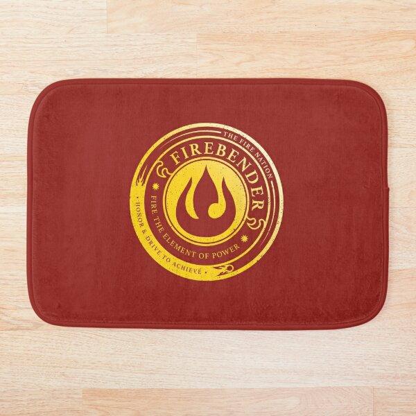 Firebender Symbol: Avatar-Inspired Design v2 Bath Mat