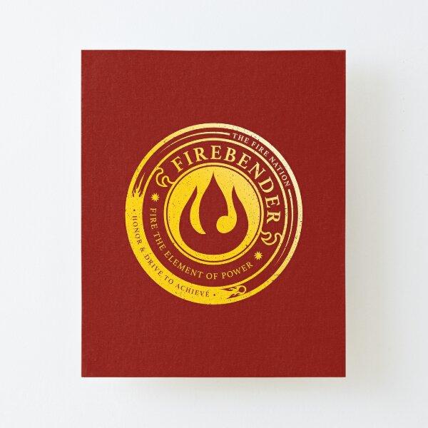 Firebender Symbol: Avatar-Inspired Design v2 Canvas Mounted Print