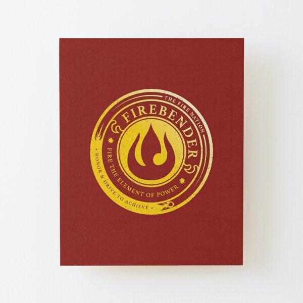 ATLA Firebender Symbol: Avatar-Inspired Design Wood Mounted Print