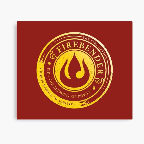 ATLA Firebender Symbol: Avatar-Inspired Design Canvas Print