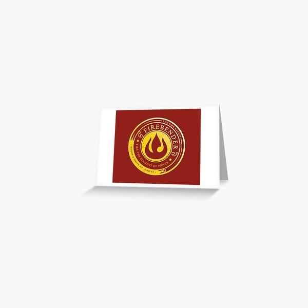 ATLA Firebender Symbol: Avatar-Inspired Design Greeting Card