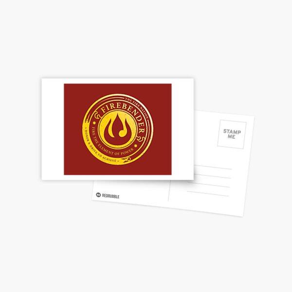 ATLA Firebender Symbol: Avatar-Inspired Design Postcard