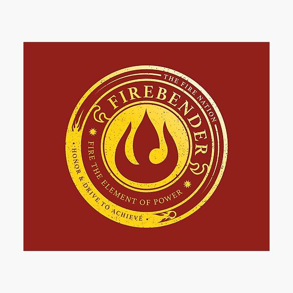 ATLA Firebender Symbol: Avatar-Inspired Design Photographic Print
