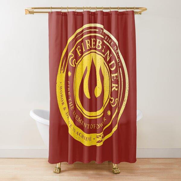 ATLA Firebender Symbol: Avatar-Inspired Design Shower Curtain