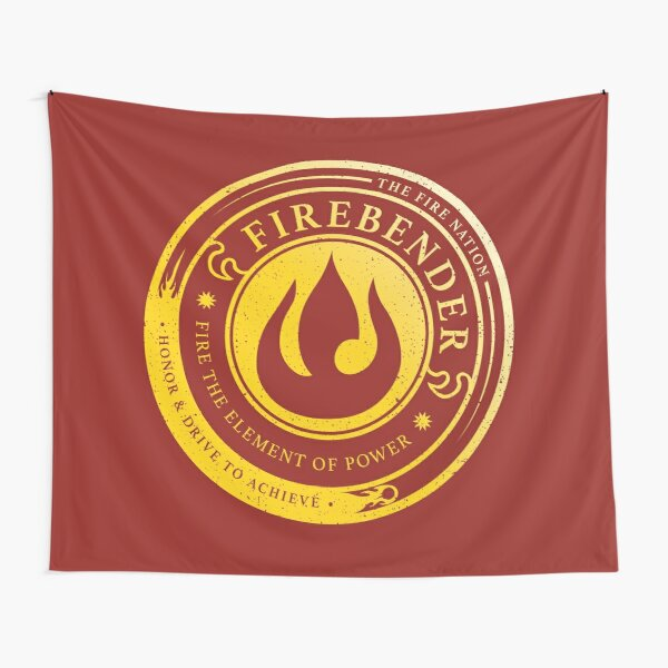 Firebender Symbol: Avatar-Inspired Design v2 Tapestry