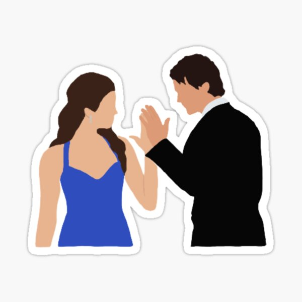 Elena and Damon Dance Portrait Sticker