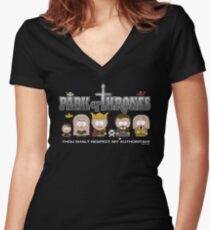 Park of Thrones Women's Fitted V-Neck T-Shirt