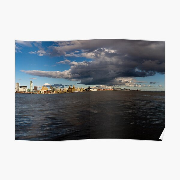 Liverpool Clouds Poster
