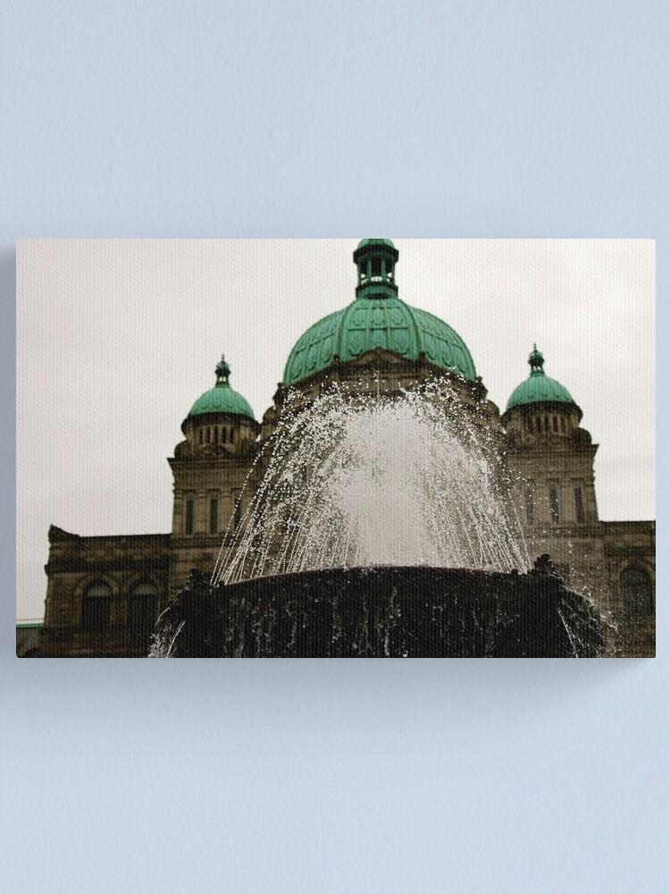 Alternate view of Water Fountain at Legislative Buildings Canvas Print
