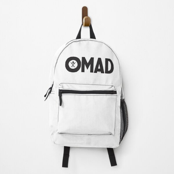 OMAD: One Meal a Day (White) Backpack