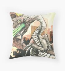 Acid breath Throw Pillow