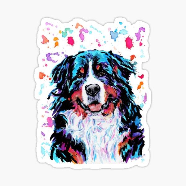 Watercolour Bernese Mountain Dog Sticker