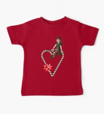 Girl Elf Candy Cane Heart Holiday  Kids Clothes
