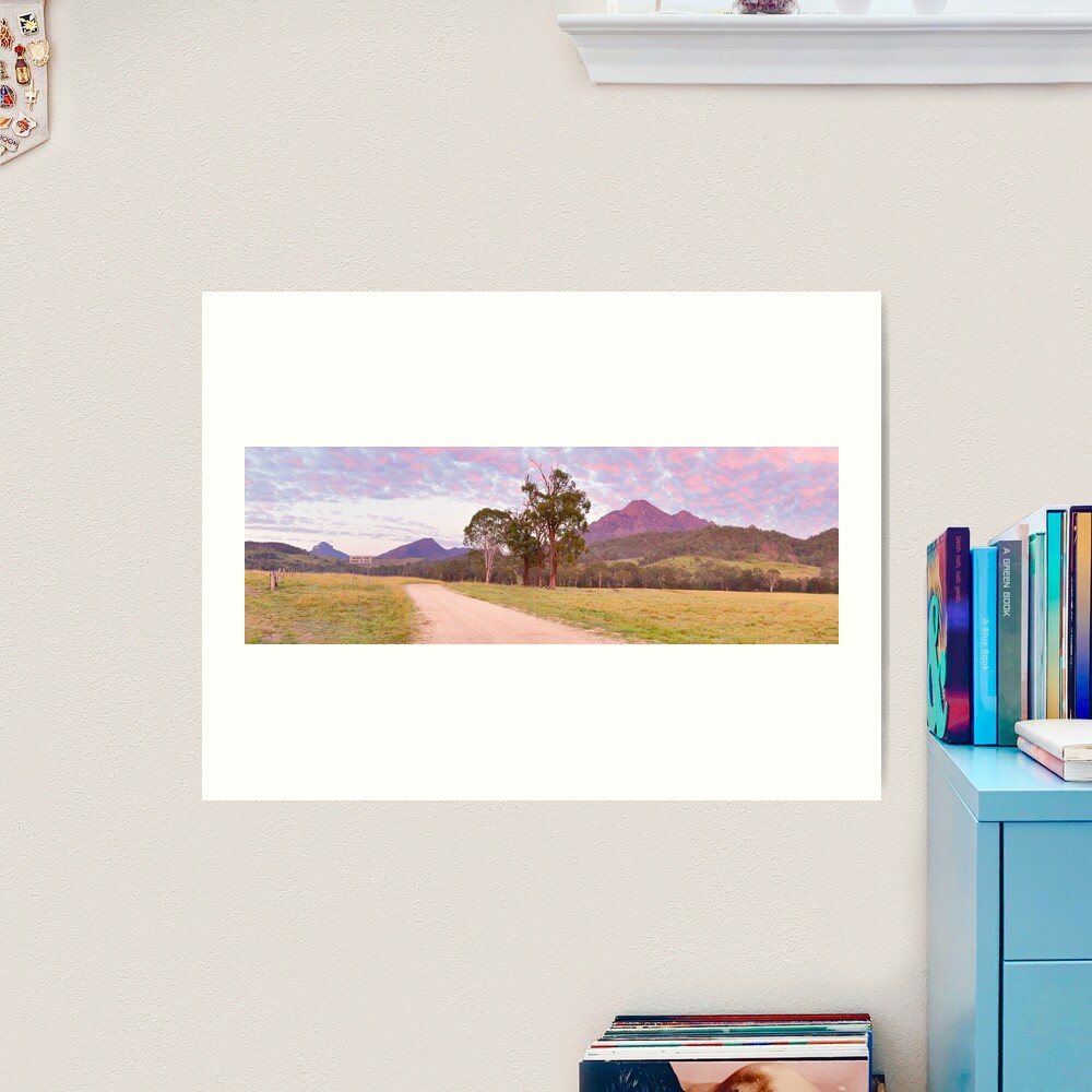 Rosey Dawn over Mt Barney, South-East Queensland, Australia Art Print