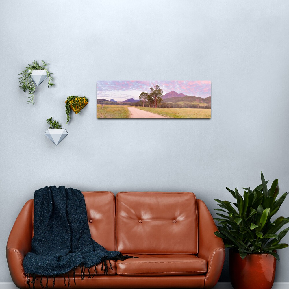 Rosey Dawn over Mt Barney, South-East Queensland, Australia Metal Print