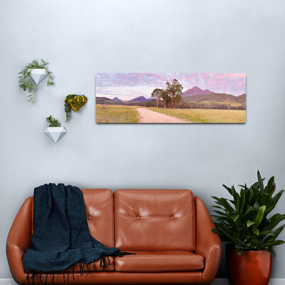 Rosey Dawn over Mt Barney, South-East Queensland, Australia Metal Print