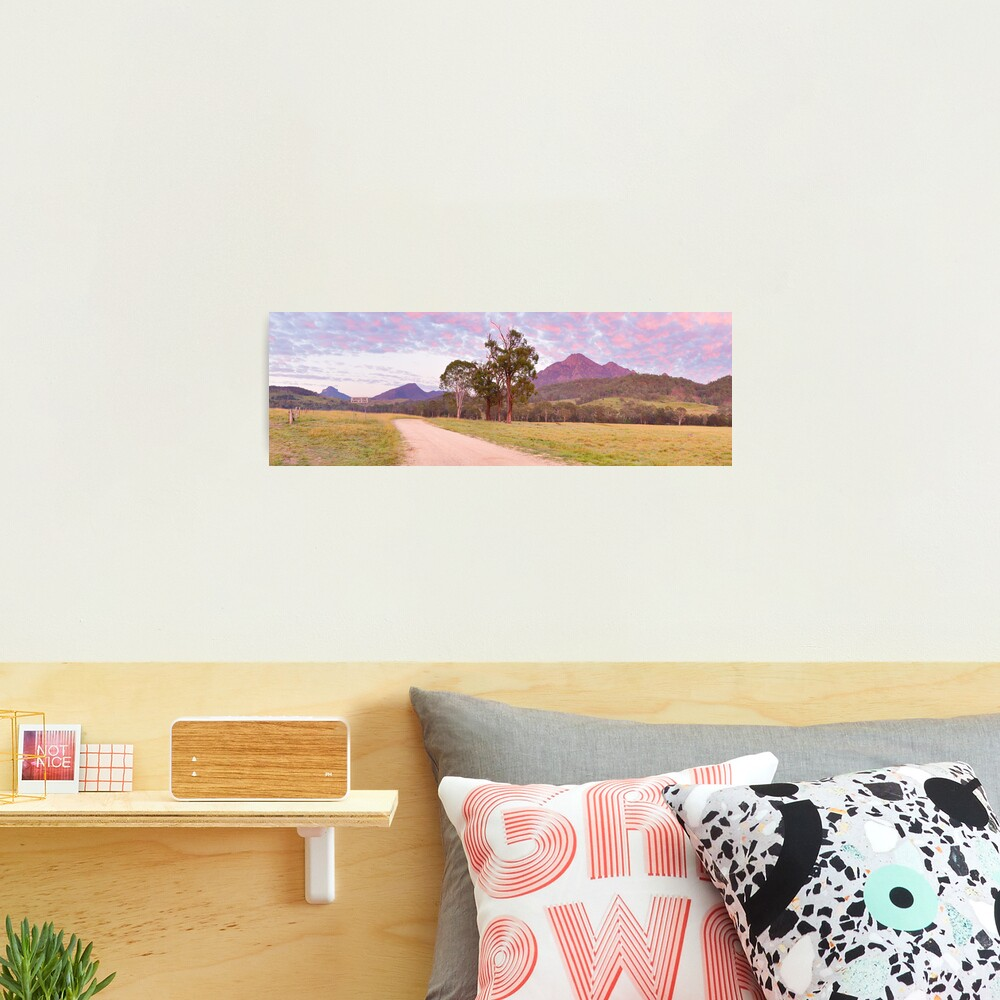 Rosey Dawn over Mt Barney, South-East Queensland, Australia Photographic Print