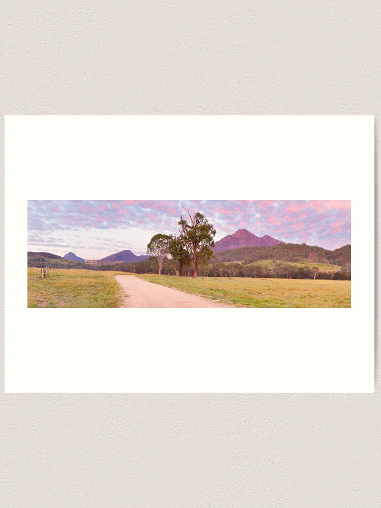 Alternate view of Rosey Dawn over Mt Barney, South-East Queensland, Australia Art Print