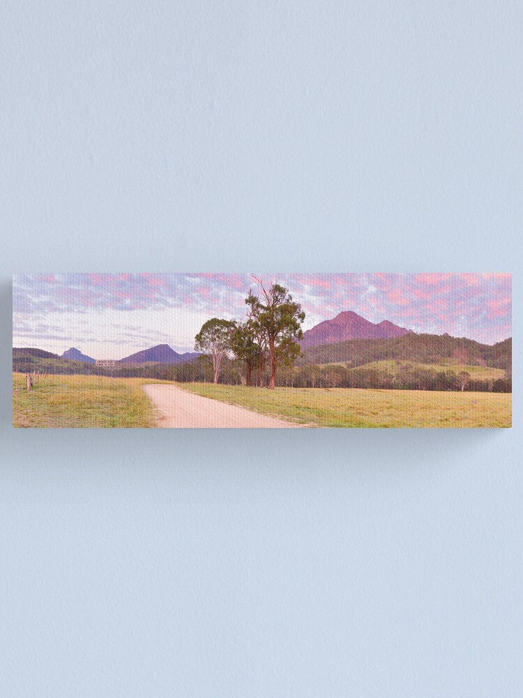 Alternate view of Rosey Dawn over Mt Barney, South-East Queensland, Australia Canvas Print