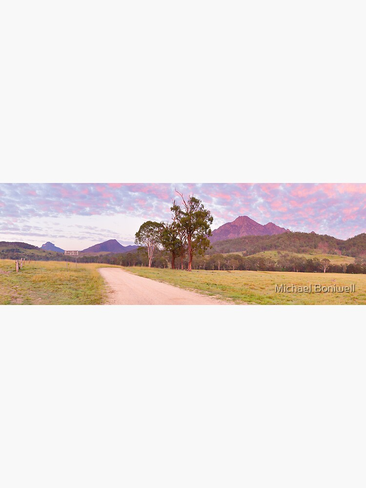 Rosey Dawn over Mt Barney, South-East Queensland, Australia by Chockstone
