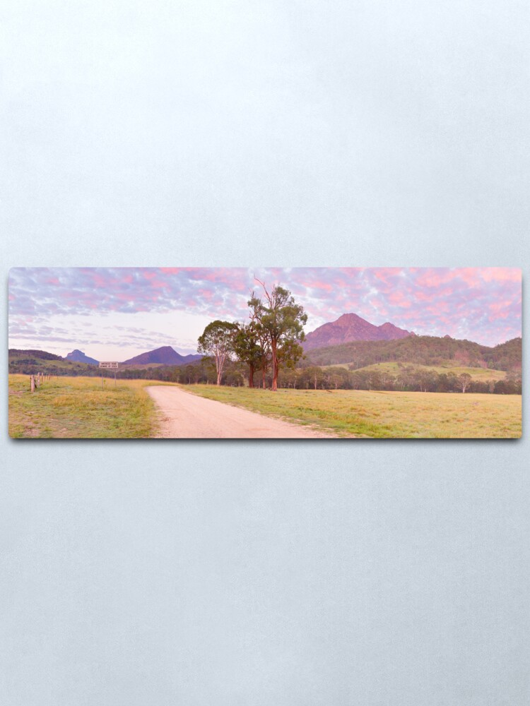 Alternate view of Rosey Dawn over Mt Barney, South-East Queensland, Australia Metal Print