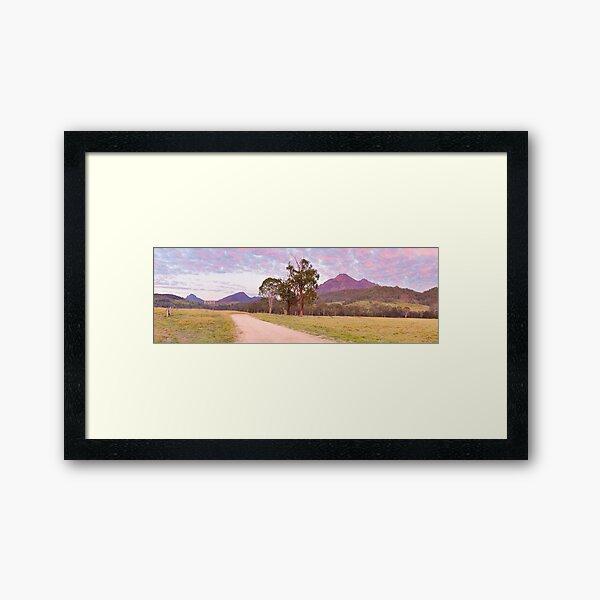 Rosey Dawn over Mt Barney, South-East Queensland, Australia Framed Art Print