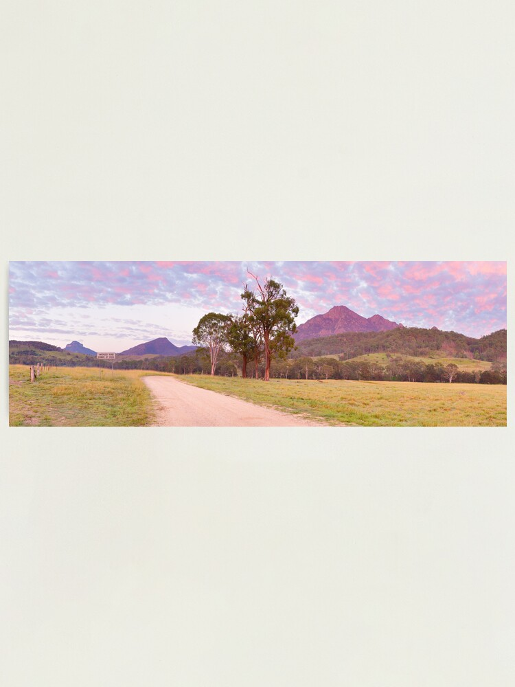 Alternate view of Rosey Dawn over Mt Barney, South-East Queensland, Australia Photographic Print