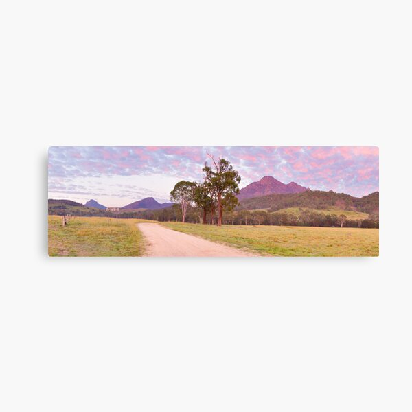 Rosey Dawn over Mt Barney, South-East Queensland, Australia Canvas Print
