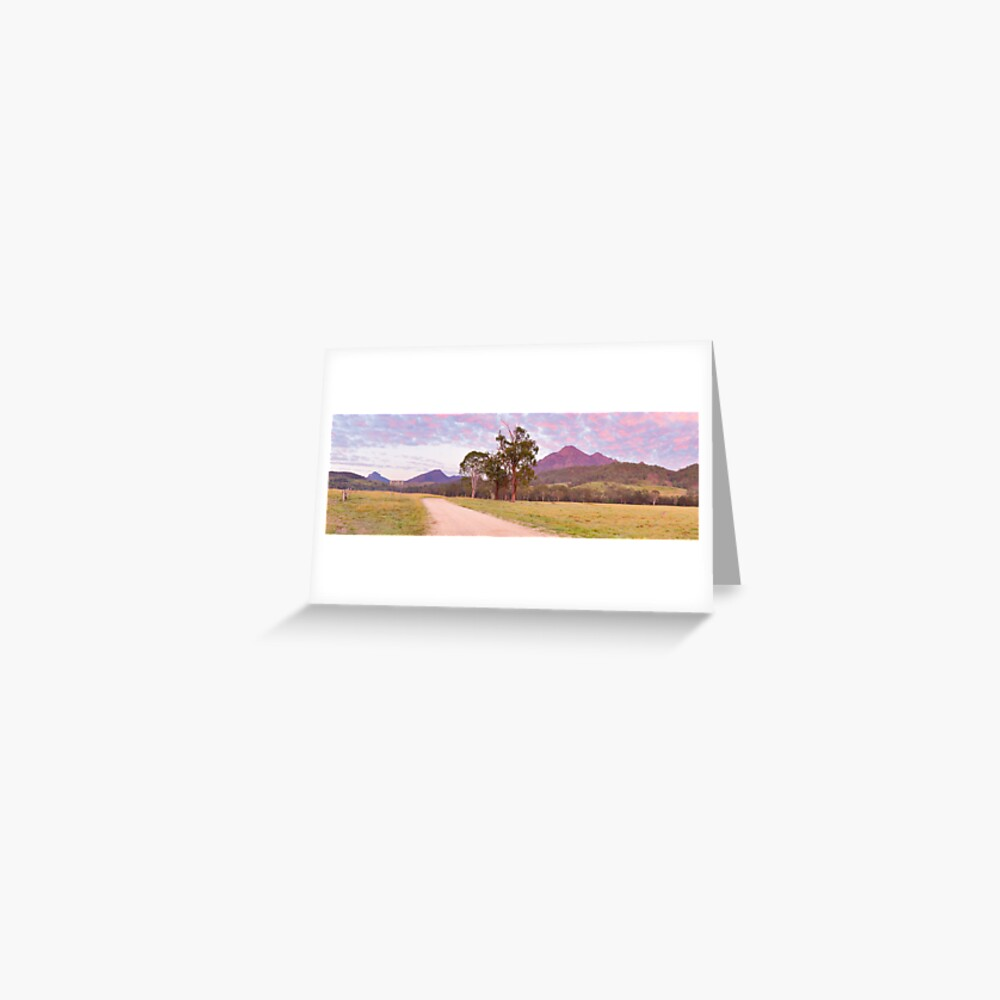 Rosey Dawn over Mt Barney, South-East Queensland, Australia Greeting Card