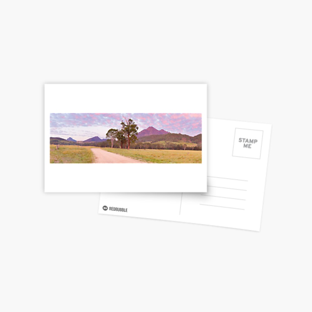 Rosey Dawn over Mt Barney, South-East Queensland, Australia Postcard