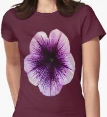 The Petunia's Lavender Veins Womens Fitted T-Shirt
