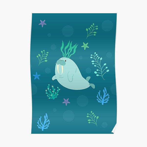Cute Walrus  Poster