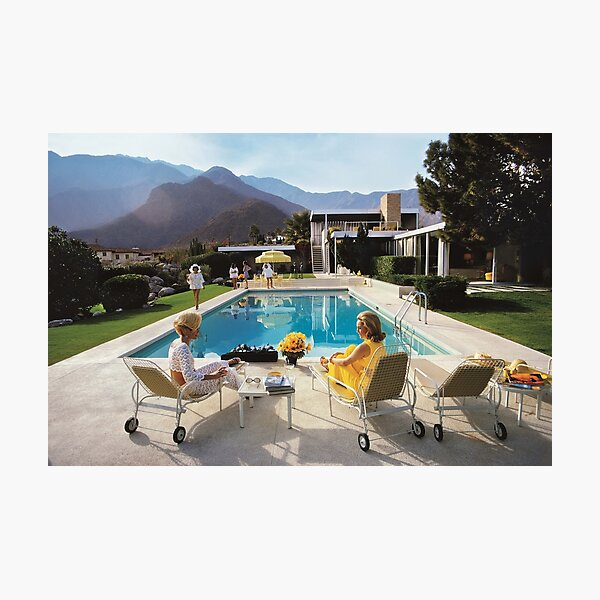 pool side glamour and elegant for girl Photographic Print