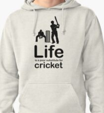 Cricket v Life - White Pullover Hoodie
