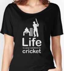 Cricket v Life - Black Women's Relaxed Fit T-Shirt