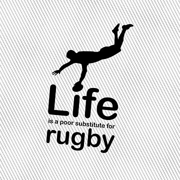 Rugby v Life - Carbon Fibre Finish by RonMarton