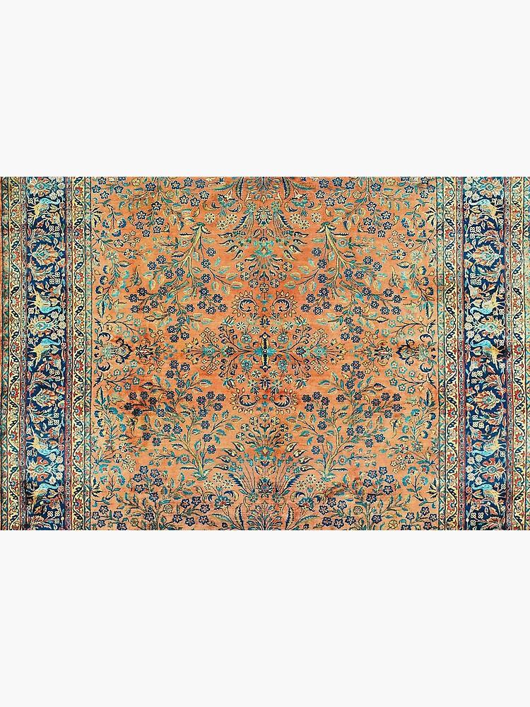 Manchester Kashan Floral Persian Carpet Print by bragova