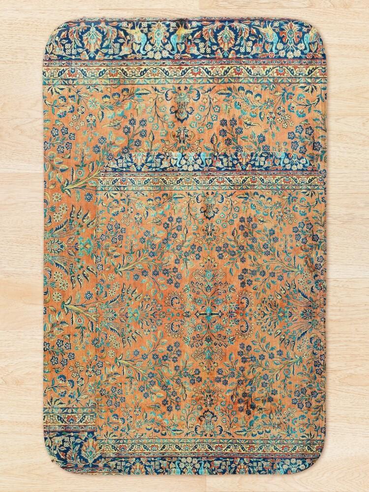 Alternate view of Manchester Kashan Floral Persian Carpet Print Bath Mat
