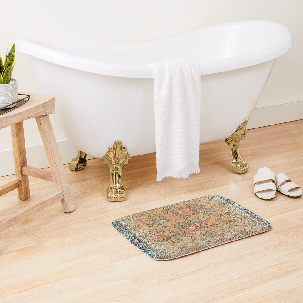 Manchester Kashan Floral Persian Carpet Print Bath Mat