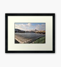 Vltava, Karlův most & Hradčany Framed Print