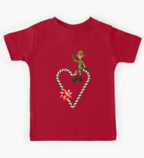 Boy Elf Candy Cane Heart Holiday  Kids Clothes