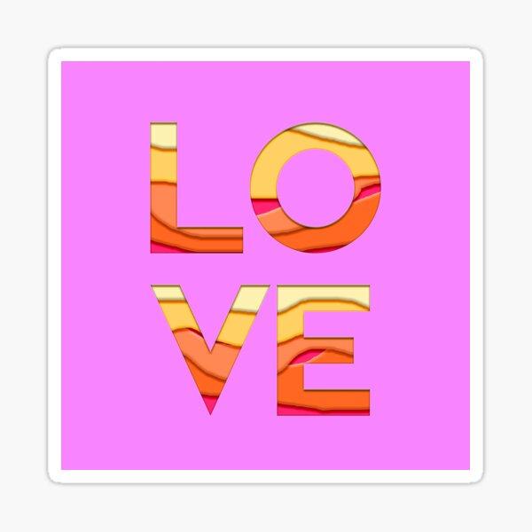 Pink Love Sticker