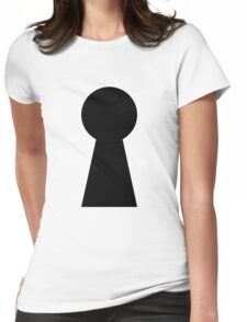 Keyhole Womens Fitted T-Shirt